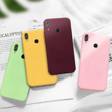 Candy Color Matte Phone Case For Huawei P30 P20 P Smart Nova 5 5i Lite Pro 2019 Simple Solid Soft Cover For Honor 8X 9 10 Lite(China)