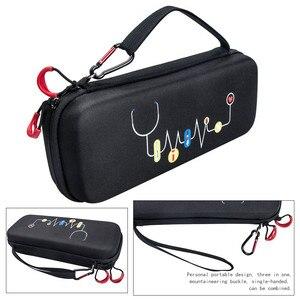 Image 5 - Hard EVA Portable Stethoscope Carrying Case Storage Box Shell Mesh Pockets for 3M Littmann III Stethoscope Medical Organizer Bag