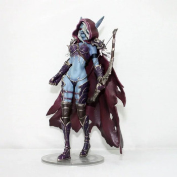 World Of Warcraft WOW Figure Sylvanas Witch Elves Archer 7-inch 18CM PVC Toys Modle Gift Favorites Decoration Figma Kid Toy 2