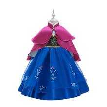 Queen Frozen 2 Elsa anan Dresses Childrens Christmas Birthday Set Clothes Girls Dress Birthday Party Cosplay Princess Dresses