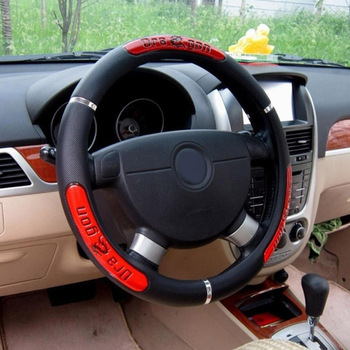 Car Steering Wheel Covers 100% Brand New Reflective Faux Leather  Elastic China Dragon Design Auto Steering Wheel Protector