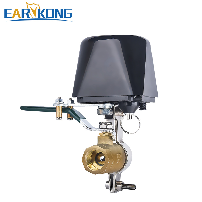 EARYKONG Tuyasmart Wifi Water Valve Protect Your Home One Button Control Compatible Tuyasmart Smart Life Alexa Goole Home Device
