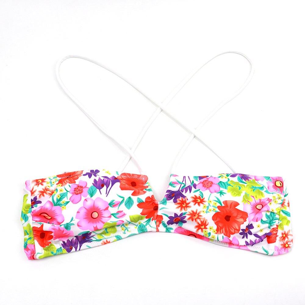 Women Summer Swimwear Printing Bikini TOPS Beachwear Tube Top Retro Bathing suits swimming wear for womens U bikini up Secret 4