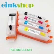 Compatible For Canon pgi-580 cli-581 Refill Ink Cartridge PGI580 CLI581 for canon PIXMA TS6150 TR7550 TR8550 Printer with chip цена в Москве и Питере