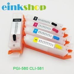 Einkshop kompatybilny pgi 580 cli 581 wkład tuszu PGI580 CLI581 do drukarki canon PIXMA TS6150 TR7550 TR8550 z chipem|Tusze do drukarek|   -