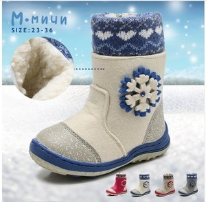 Image 3 - MMNUN Felt Boots Baby Warm Winter Boots For Girls Snow Boots Children Shoes Kids Shoes For Girls Mid Calf Zip Size 27 36 ML9421