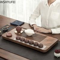 WSHYUFEI Chinese Wooden Tea Tray Drawer Tea Water Drainage Table Trays Tea Living room tea table Room Ceremony Tools