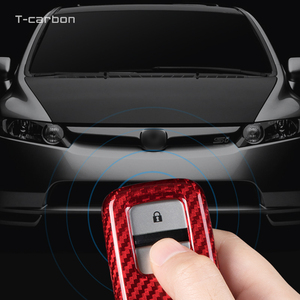 Image 5 - Karbon Fiber araba anahtarı durum kapak Honda CRV Odyssey Accord 2013 2017 Civic Pilot Fit serbest HRV XRV vezel caz BRV aksesuarları