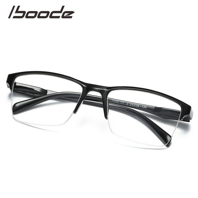 Iboode Square Half Frame Reading Glasses Women Men Ultralight 0.25 0.5 0.75 1.0 1.25 1.5 1.75 2.0 2.25 2.75 3 3.25 3.5 3.75 4.0