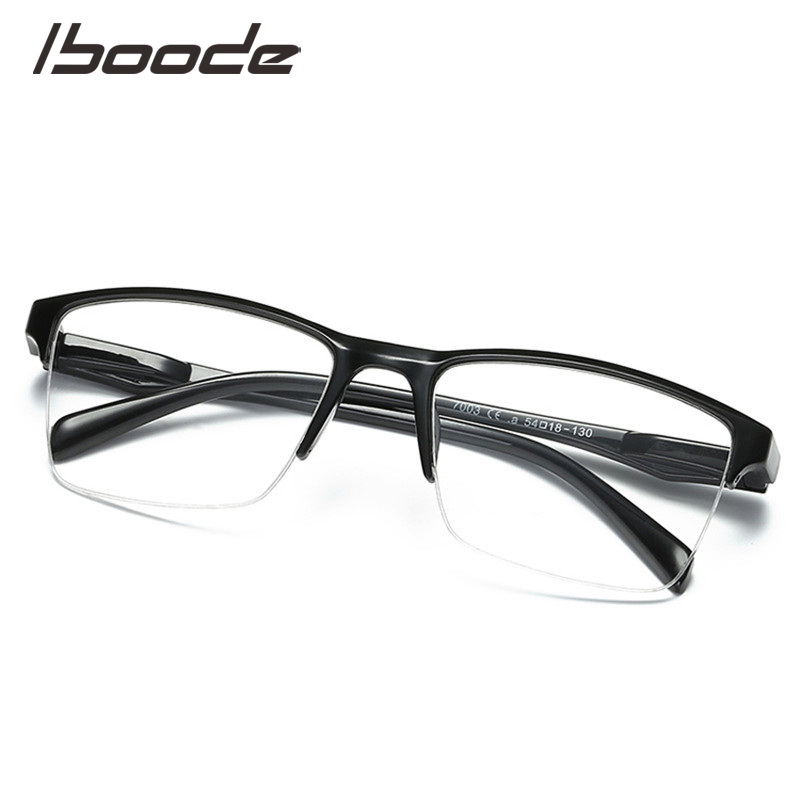 iboode Square Half Frame <font><b>Reading</b></font> <font><b>Glasses</b></font> Women <font><b>Men</b></font> Ultralight 0.25 0.5 0.75 1.0 1.25 1.5 1.75 2.0 <font><b>2.25</b></font> 2.75 3 3.25 3.5 3.75 4.0 image