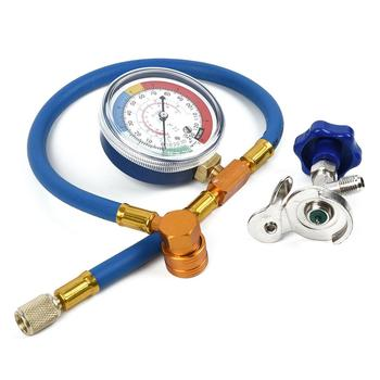 R134A 200 PSI Car Auto AC Air Conditioning Refrigerant Recharge Measuring Hoses With Pressure Gauge Automotive Supplie Kit