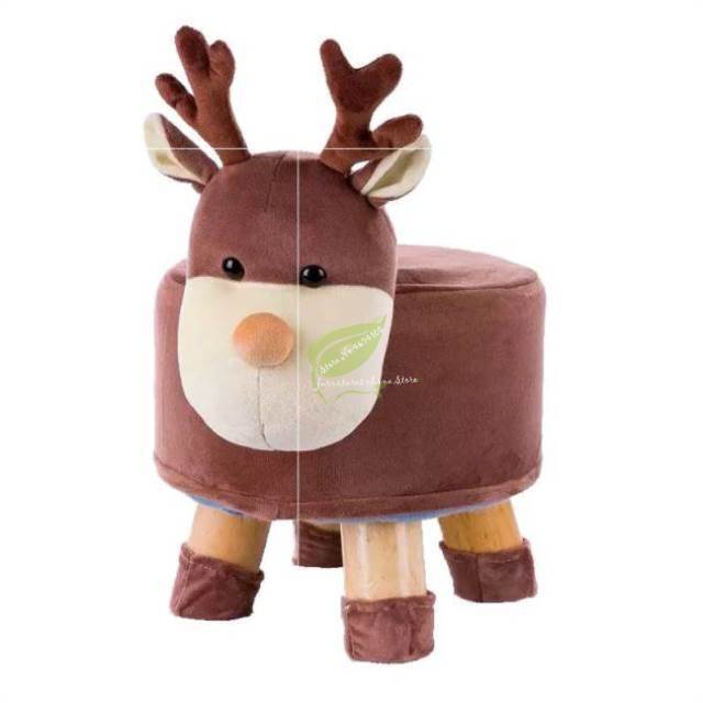 Fashion Small Bench Solid Wood Shoes Bench Children Cartoon Stool Adult Round Pier Sofa Stool Creative Stool