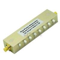 Novo atenuador variável de imprensa ajustável 5 w DC 2.5Ghz 0 90db sma 8 chave passo 1db|Conectores| |  -