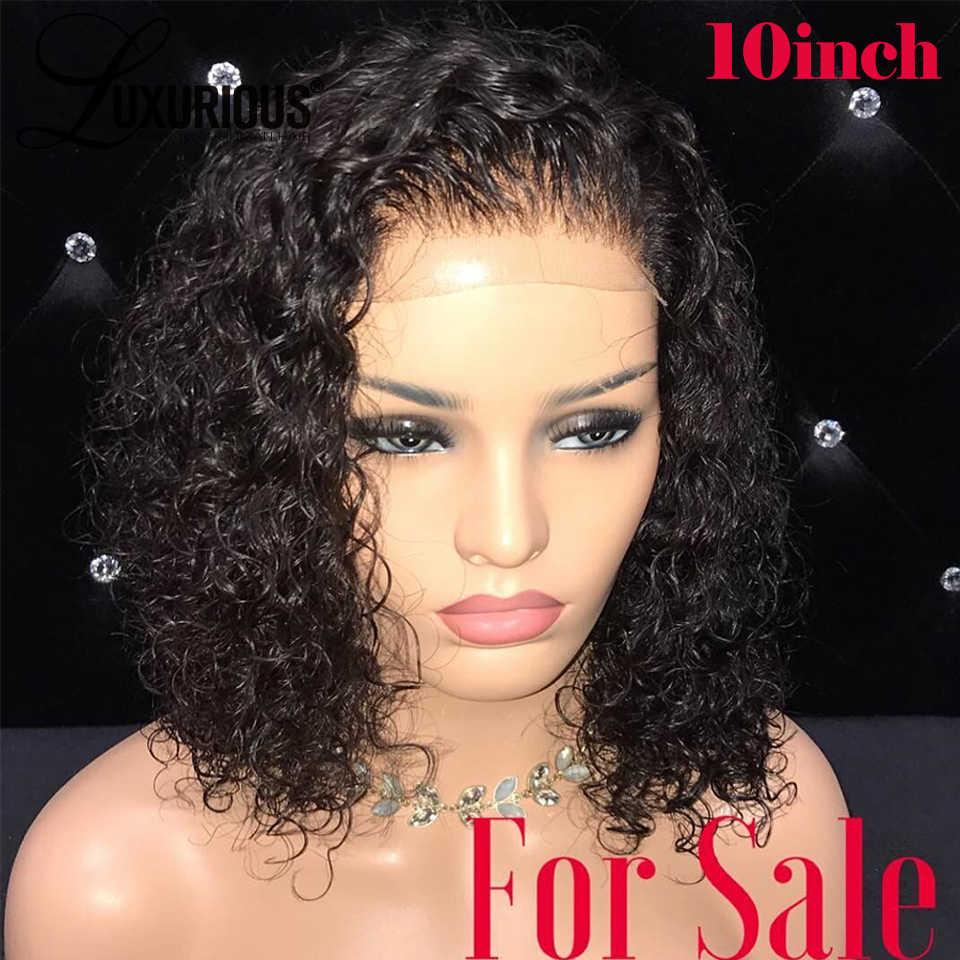 Парики из натуральных волос на кружевной основе, предварительно сорванные с волосами младенца, бразильские волосы remy, 13x4, короткий парик из Боба для женщин, отбеленные узлы