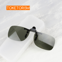 Toketorism quality sun glasses clip driving Night Vision polarized on flip-up sunglasses 302