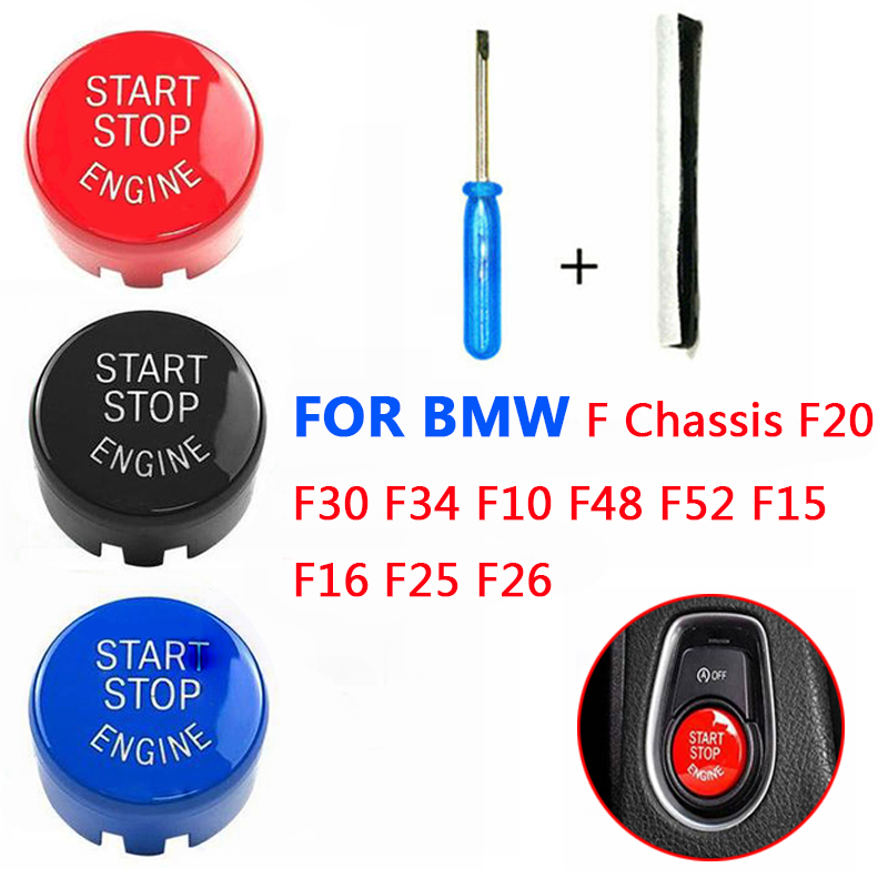 Start Stop Engine A Key To Start Engine Start Button Cover  For BMW F Chassis F20 F30 F34 F10 F48 F52 F15 F16 F25 F26  Car Styli