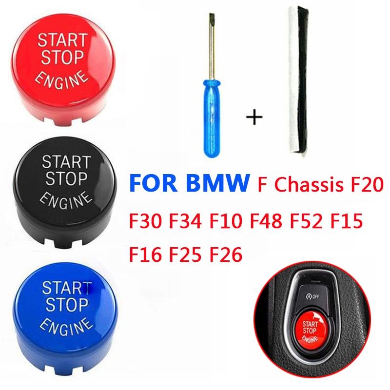 Start Stop Engine A Key To Start Engine Start Button Cover  For BMW F Chassis F20 F30 F34 F10 F48 F52 F15 F16 F25 F26  Car Styli