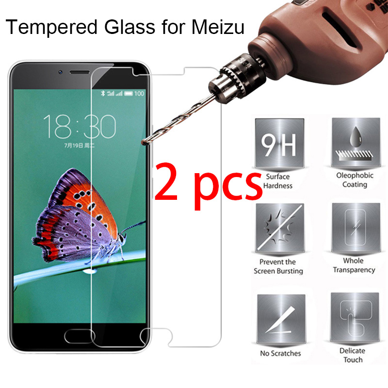 2pcs! Phone Protective Glass For Meizu M6 M5 M3 M2 Note 9H HD Transparnet Glass Phone Screen Protector For Meizu M6S M5S M3S