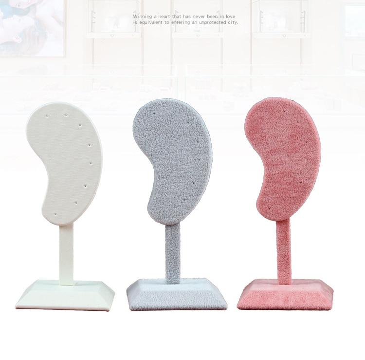 Модные серьги Дисплей стенд для ушей в форме ухо клип серьги-гвоздики ювелирное изделие Дисплей Органайзер стенд микрофибры серьги Дисплей...