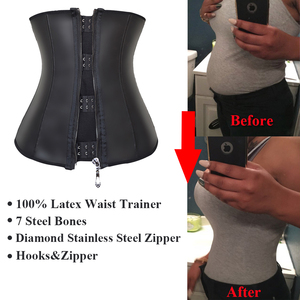 Image 2 - דוגמנות רצועת רוכסן מותניים מאמן מחוך לטקס מותניים cincher underbust גוף shapewear נשים הרזיה נדן אבנט fajas