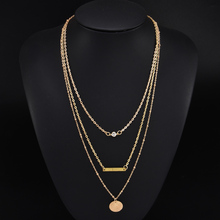 Bohemian Multi-Element Crystal Pendant Necklace 2019 For Women Gold Fashion Multi layer Necklaces & Pendants Jewelry Wholesale