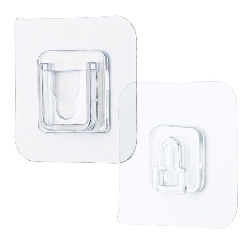 Double-Sided Adhesive Wall Hooks,New Double Sided Adhesive Wall Utility Hooks,Wall-Sticking Hooks Without Punching and Nails,Heavy-Duty Self-Adhesive Hooks 10 Set 10