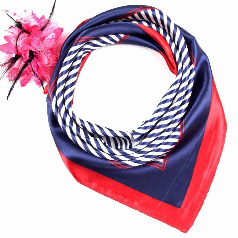 50*50cmFashion Frauen Quadratischen Kopf Schal Wraps Schals Damen Gedruckt Kopftuch Neck Schöne Schal Schal Komfortable