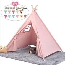 Children's Tent Play-House Tipi Carpet Decoration Portable Kids