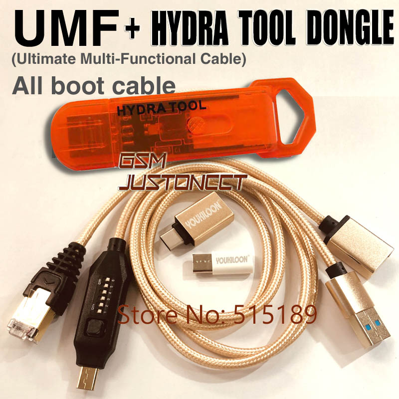 2019 Newest Original Hydra USB Dongle Is The Key For All HYDRA Tool Softwares  +UMF ALL Boot Cable Set (EASY SWITCHING)