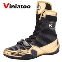 2020 New Comfortable Wrestling Shoes for Men Anti Slip Big Size 38 45 Athletic Flighting Boxing Sneakers Men Sport Shoes
