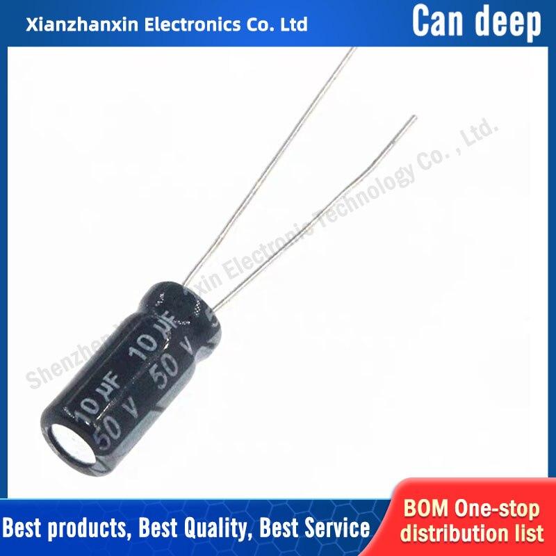 100 шт./лот электролитический конденсатор 50 в 10 мкФ 50 в 10 мкФ 5*11 мм