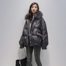 2020 Real Fox Fur Women White Duck Down Jacket Female Thick