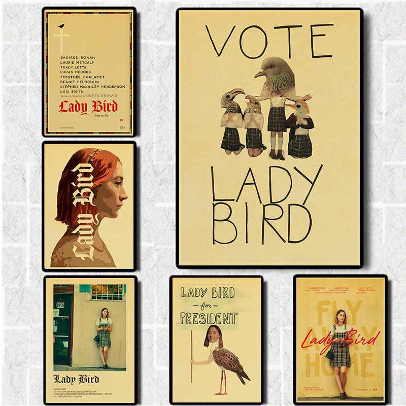 Saoirse Ronan Movie Cinema Poster Art LADY BIRD 2017 Greta Gerwig