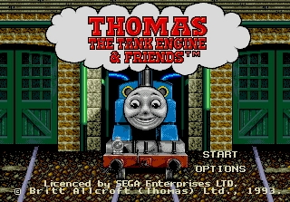 Thomas the Tank Engine & Friends - 16 bit MD Games Cartridge For MegaDrive Genesis console image