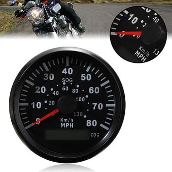 Universal 1pc 85mm 12V 24V Speed Gauge GPS Speedometer Odometer With Backlight 130KM/H For Car Truck Marine Boat ATV UTV Parts