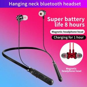 Магнитные беспроводные Bluetooth-наушники с шейным ободом, стереогарнитура, Handsfree водонепроницаемые наушники-вкладыши, наушники для Xiaomi с микрофоном