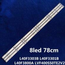 "LED Backlight strip 8 lamp For TCL 40""TV L40F3303B L40F3301B L40F3800A TOT_40F3800_3X8_3030C V1 LVF400SS0TE2V2 LED40D2710B"