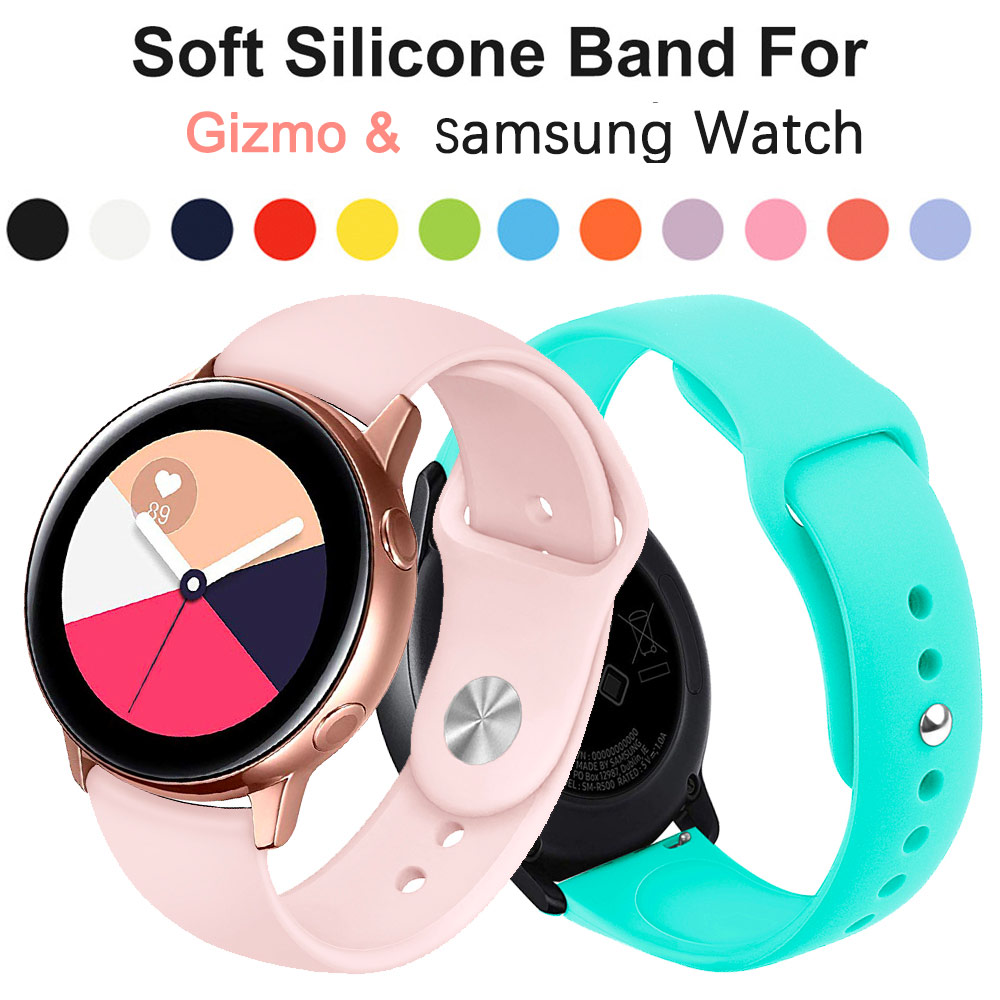 Silicone Sport Band Strap For Gizmo Watch Samsung Galaxy Watch Active2 46mm Amazfit Gear S2 Quick Release WatchBand 20mm 22mm