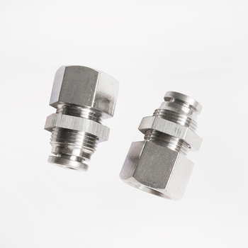 Pneumatic Fittings PMF Straight Bulkhead Union Connector Female BSPT Thread 304 Stainless Push In Quick Air Fitting Plumbing image