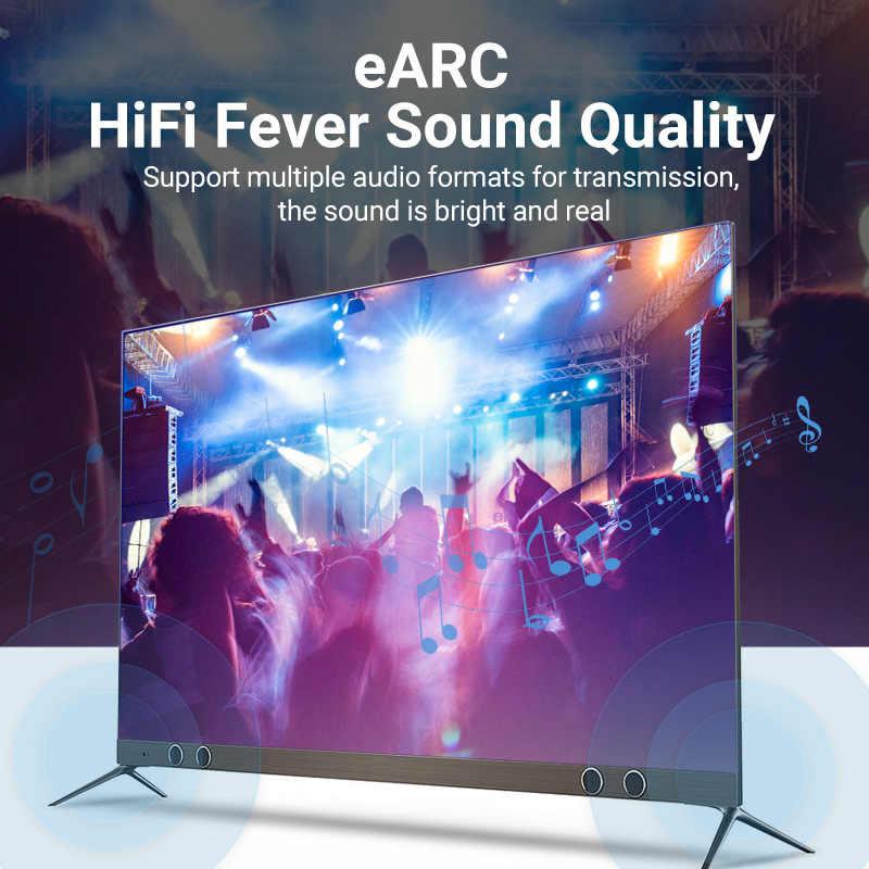 Przewód przedłużający 8K HDMI 2.1 kabel 120Hz 48 gb/s z włókna światłowodowe kabel HDMI o bardzo wysokiej prędkości obrotowej HDR eARC dla HD TV, pudełko żarówka jak PS4 kabel HDMI