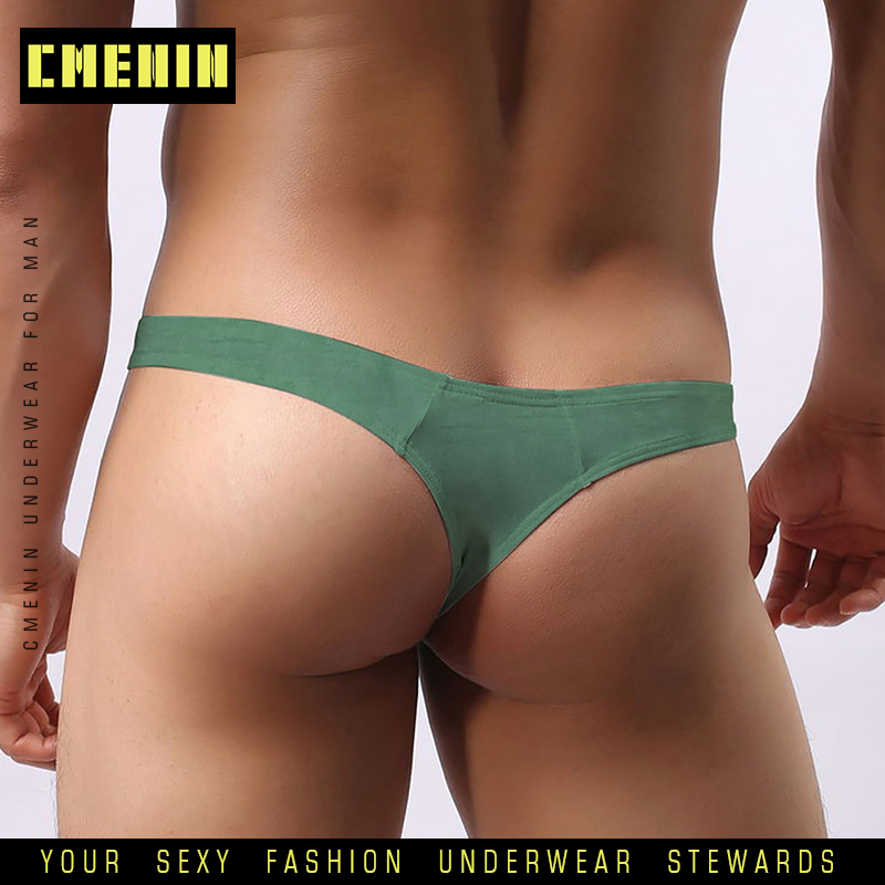2020 Sexy Men Underwear Jockstrap Briefs Cotton Modal Thong Men G String Cueca Male Panties Fashion Lingeries Man Bikini AD313