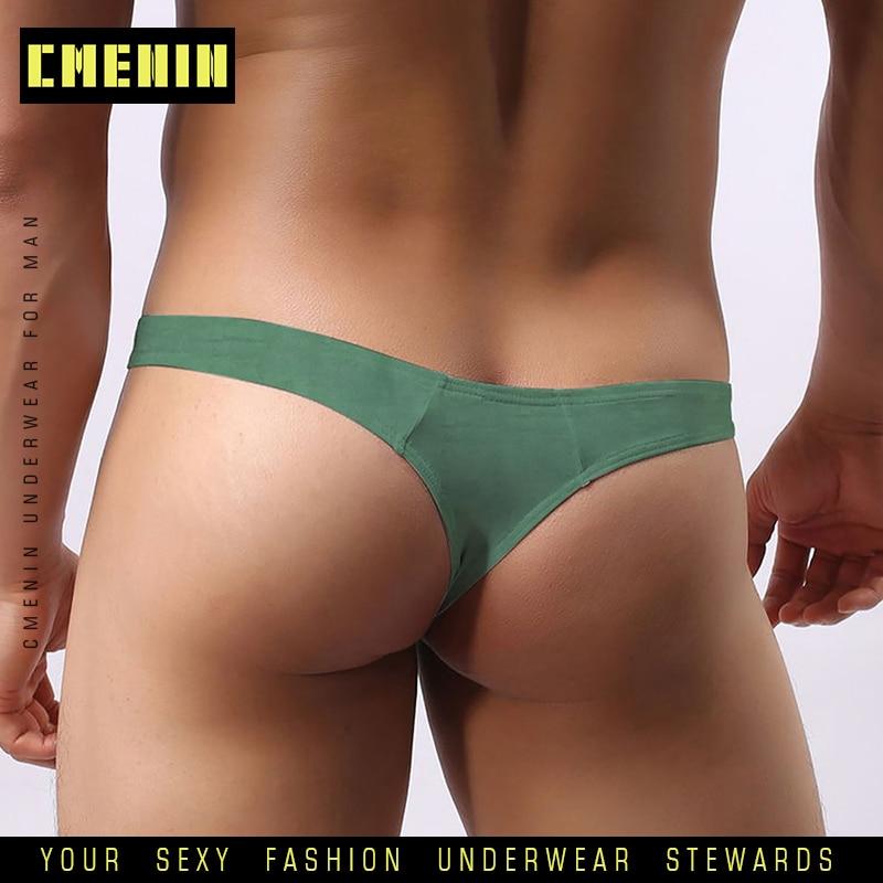 2020 Sexy Men Underwear Jockstrap Briefs Cotton Modal Thong Men G String Cueca Male Panties Fashion Lingeries Man Bikini AD313