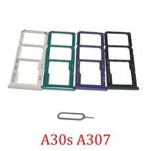 Phone SIM SD Card Trays For Samsung Galaxy A30s A307F A307FN A307G A307GT Original Phone SIM Chip Card Slot Holder Drawer Part