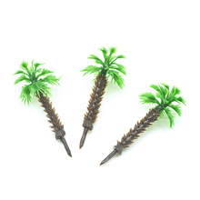 Teraysun 4cm Model Miniature scale Palm Tree for Architecture Plastic sea scenery