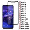 Закаленное стекло 11D для Huawei Nova 7 6 SE 5 5i 5T 4 4E 3 3i 3T Защитная пленка для экрана Mate 10 20 30 Lite