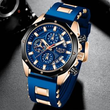 Ρολόι χειρός Ανδρικό2020 new lige brand casual fashion Ανδρικά ρολόγια Στρατιωτικά αθλητικά silicagel ρολόι Χρονογράφος relojes hombre