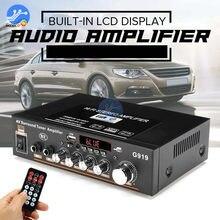 Amplificador de bluetooth dc12v AC110V-220V estéreo áudio digital surround sintonizador amplificador 2ch fm sd alta fidelidade carro casa power amp