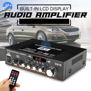 Bluetooth Amplifier DC12V AC110V-220V Digital Audio Stereo Surround Tuner Amplificador 2CH FM SD HIFI Car Home Power AMP