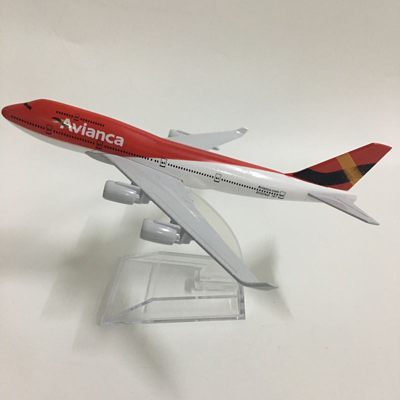 JASON TUTU 16cm AVIANCA COLOMBIA Boeing 747 Plane Model Airplane Model Aircraft Model Diecast Metal Airplanes Model 1:400 Plane