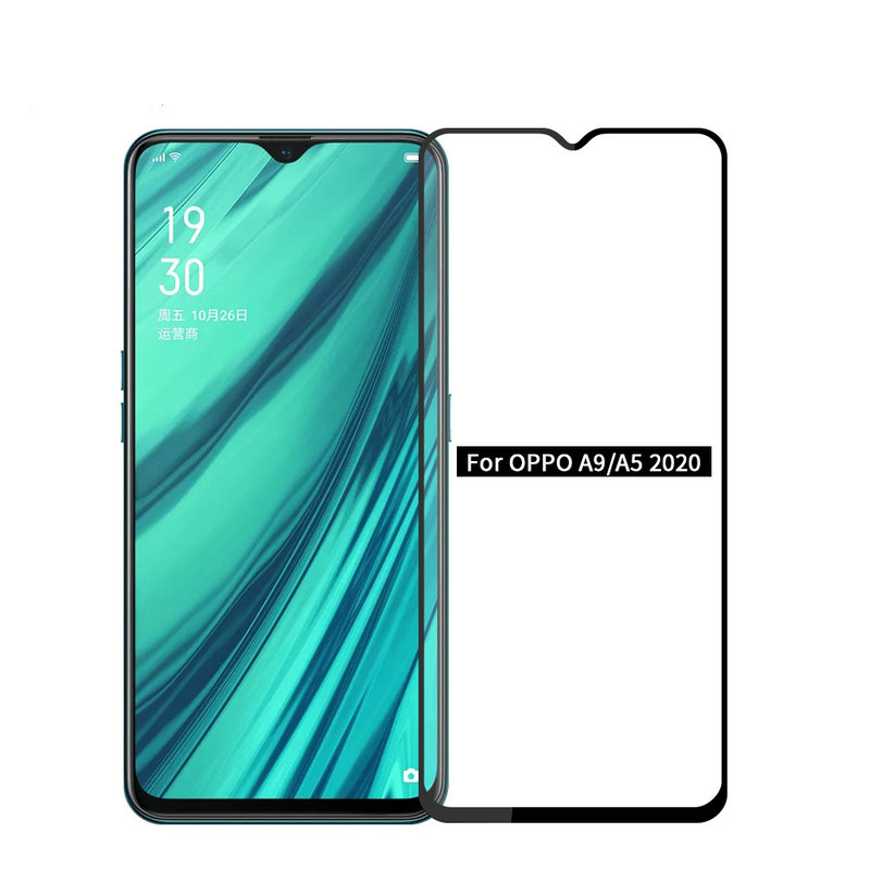 For Oppo A9 2020 9D 6D 5D Full Glue Cover Tempered Glass Screen Protector For Oppo A9 2020 For Oppo A5 2020 Glass Film